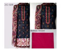 Cotton Full Embroidered Suits, Available In Karachi Delivery is Available all Over Pakistan