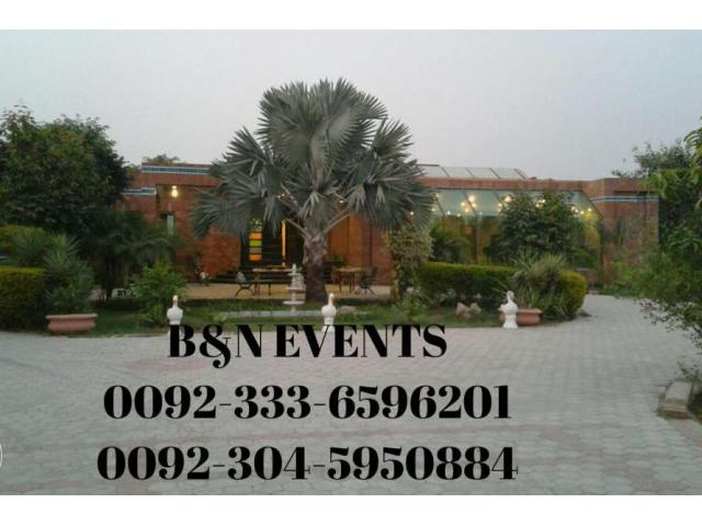 Farm House For Rent  At Bedian Road For Party & Shootings Lahore