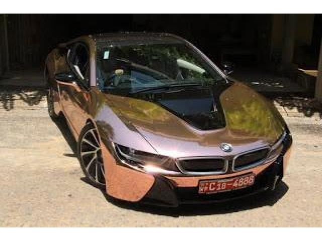 BMW I8 WRAPPED IN Rose Gold Mirror Chrome Delivery Nationwide For Sale Please Call Us