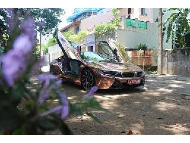 Bmw I8 Wrapped In Rose Gold Mirror Chrome Delivery Nationwide For