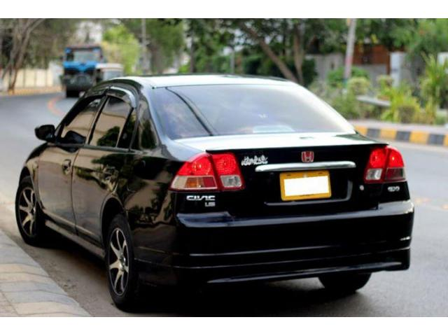 honda civic   color black petrol transmission manual  sale  good amount karachi