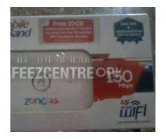 Zong 4G Cloud new Version For Sale In Sadiqabad Punjab