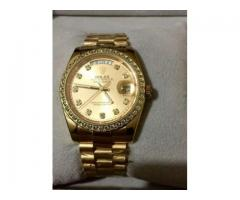 Rolex Hand Watch Pure Golden Color For Sale In Peshawar