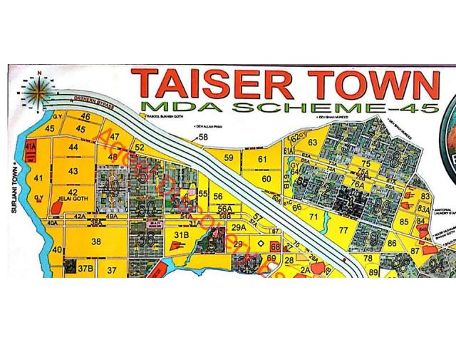 Taiser Town scheme 45 phase 1 or phase 2 main plot required please