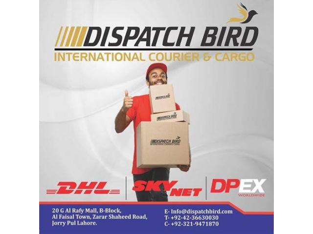 DISPATCH BIRD INTERNATIONAL COURIER & CARGO OFFICE TIMINGS 10 AM TO