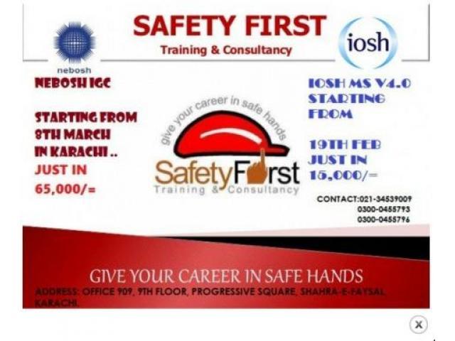 NEBOSh IGC And IOSH Classes Complete Course In Karachi