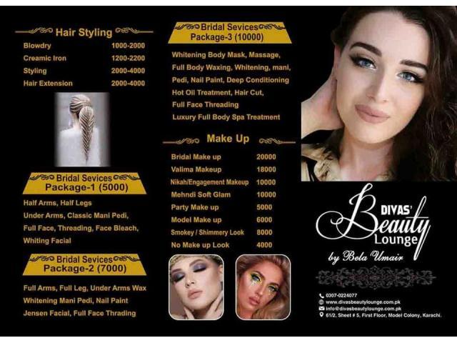 Beauty Parlour Karachi Malir Cantt Model - Divas Beauty