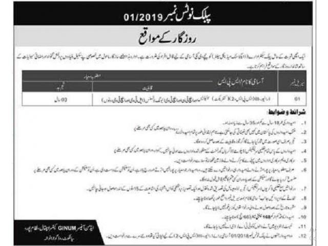 GINUM Gujranwala Institute of Nuclear Medicine PAEC Jobs APPLY NOW