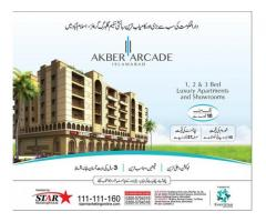 Luxury Apartments and Show Rooms,Akber Arcade,Payment Plans