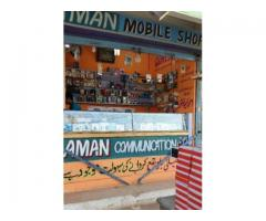 Running Mobile Shop In DUA Mobile Mall For Sale In Karachi