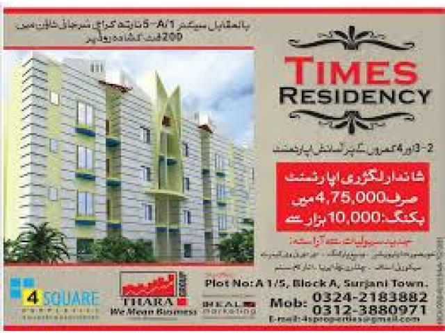 Times Residency Karachi Payment Schedule Booking Detail