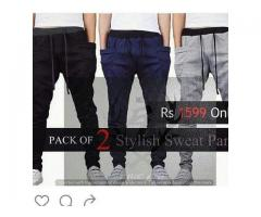 Pack of two stylish sweat pants for Sale in all over Pakistan