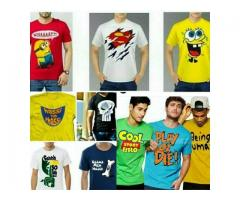Stylish Printed Halfsleeves Tshirts for Mens with Cash on Delivery