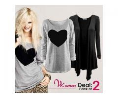Beautiful Pack to Two Tshirts for Womens with Cash on Delivery
