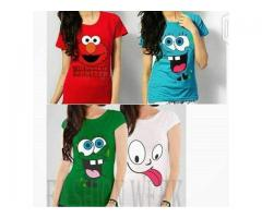 Pack Of 4 Printed T-shirt For Girls In All colors with Home Delivery