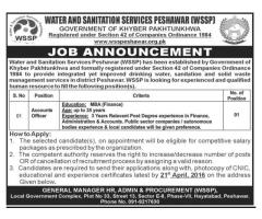 Accounts officers Jobs In Water & Sanitation Services Peshawar