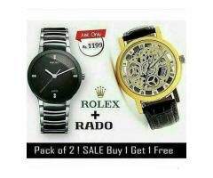 New Offer Pack Of Two Watches Rado and Rolex Delivery Available