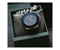 Beautiful Watch With Rubber and Jeans Starp Blue Edition for Sale