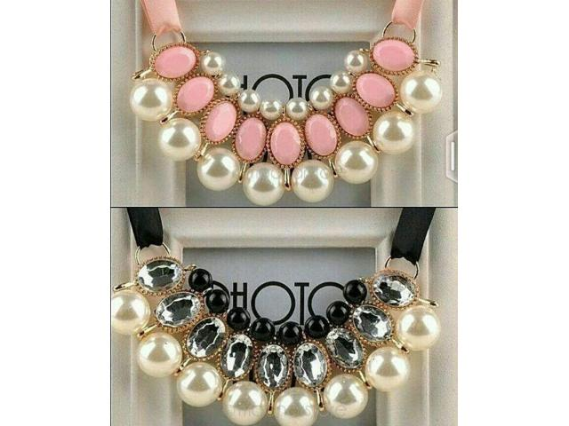 Necklaces In Pink And Black Colors Very Beautiful Cash On Delivery