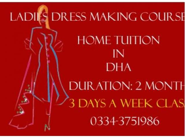 Ladies Tailoring Classes in Tailoring Institute Affordable Fee Karachi