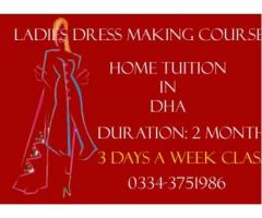 Ladies Tailoring Classes in Tailoring Institute Affordable Fee Karachi