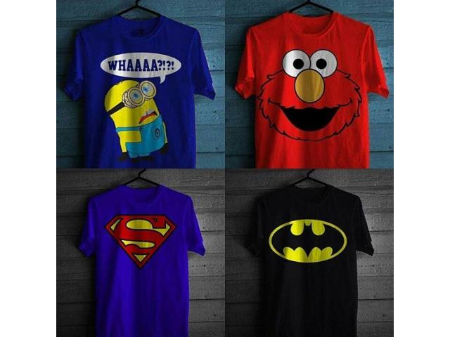 Pack Of 4 T-shirts with Cartoons Prints For Sale Cash On Delivery