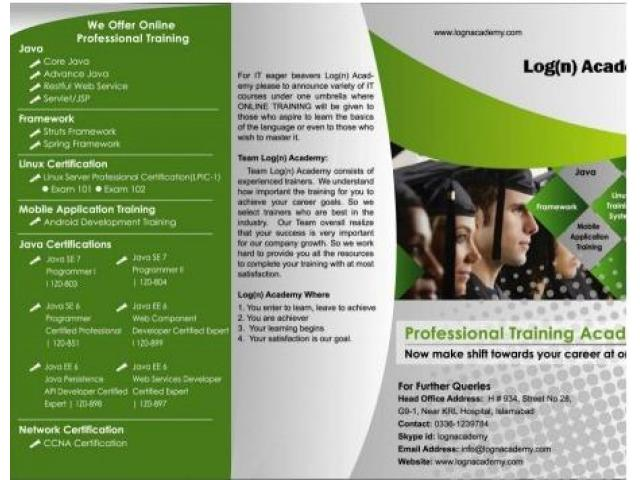 Java Online Certification Training Through Our Academy Karachi