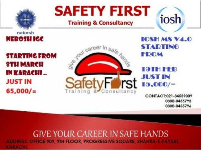Safety Officer International General Certification Classes In Karachi
