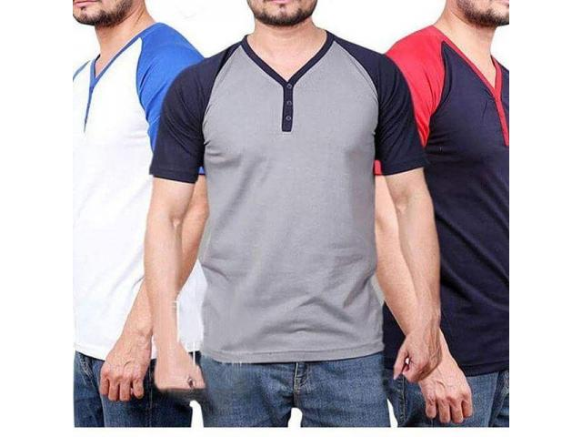 Discount Offer Of Yneck  T-shirts For Gents Color Available For Sale