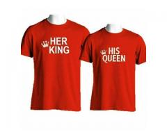 Pack Of Two T-shirts In Red Color For Sale Cash On Delivery