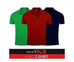Discount Offer Pack Of 3 Polo T-shirts For Gents Cash On Delivery