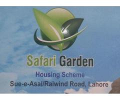 Safari Garden Housing Scheme Lahore Residential Plots Booking details