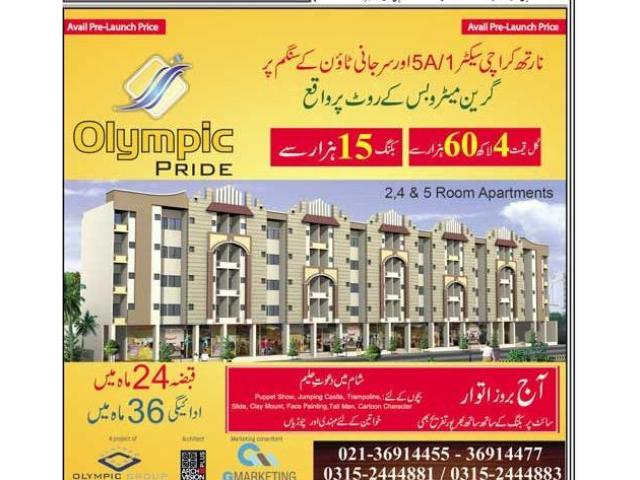 Olympic Pride Karachi Payment Plans Apartments booking Detail
