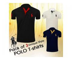 Pack Of Three Unique Style Polo T-shirts, For Sale Cash On Delivery