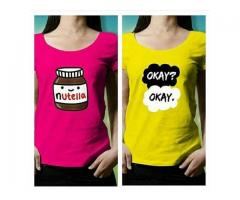Pack Of Two T-shirts For Girls Colors Available Delivery Available