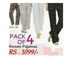 Pack Of Four Printed nomen Pajamas Home Delivery Available