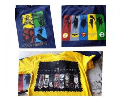 Sale Offer Pack Of Three t-shirts With Printed Logos Cash On Delivery