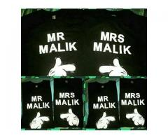 Customize T shirts Any Name Can Be Customized Delivery Available