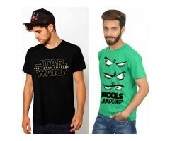 Pack Of 2 T-shirts Printed With Logos And Text Cash On Delivery