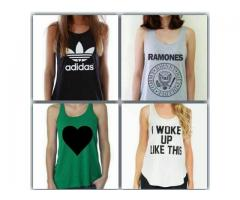 Tank Tops Of Different Branded For Girls For Sale Cash On Delivery