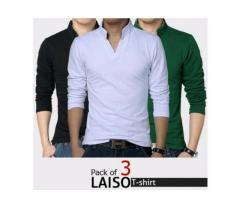 Pack Of three Lasio T-shirts Colors Available, Delivery Available