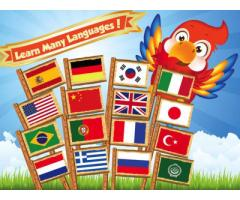 Learn French, German, Spanish, Portuguese, Korean, Chinese, Turkish,