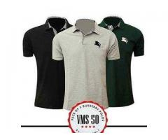 Pack Of Three Burberry Polo T-shirts Half Sleeves Cash On Delivery