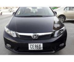 Honda Civic VTI Black Color Model 2014 For Sale In Islamabad