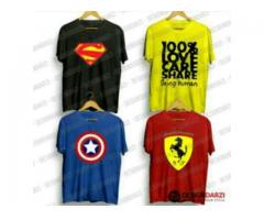 Discount Offer Pack Of Four T-shirts With Printed Logos Cash On Delivery