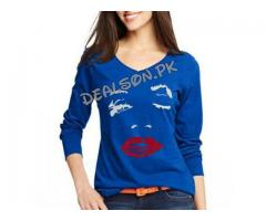Lips T-shirts For Girls, colors Available, For Sale Cash On Delivery
