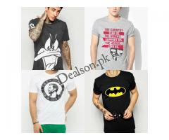 Pack Of Four T-shirts For Him With Printed Logos Cash On Delivery