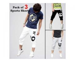 Pack Of 3 Sports Shorts For Boys Home Delivery Available