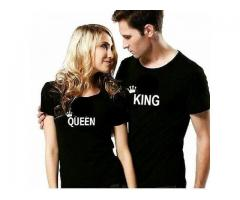 Pair Of Couple T-shirts King and Queen T-shirts For Sale Cash On Delivery