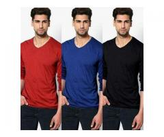 Discount Offer Pack Of 3 T-shirts For Gents For Sale Cash on Delivery